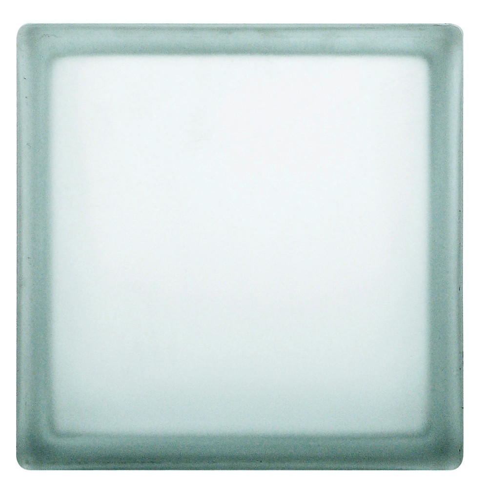 Clear Etched Glass Block