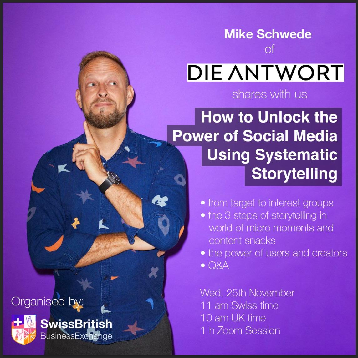 Online talk by Mike Schwede