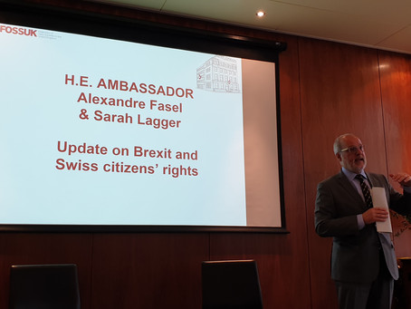 Swiss Ambassador Alexandre Fasel: Update on Brexit and the Swiss citizens' rights