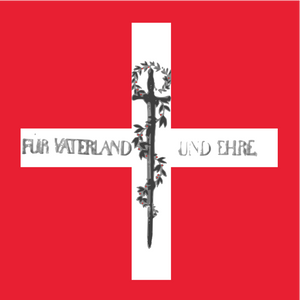 First Swiss battalion flag of 1815, after the design of General Niklaus Franz von Bachmann.
