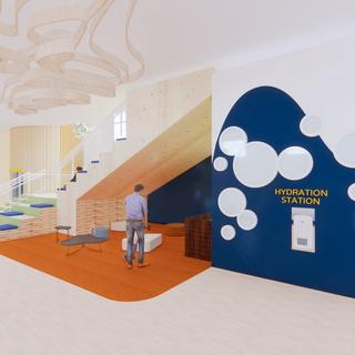 Social Stairs Nook & Restroom