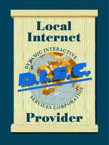 DISC Internet Provider Hand Painted Sign