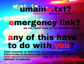 Emergency Info Poster