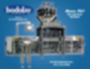 Bodolay Premade P61 fill and seal packging machine built by B&M industries with a food scale and bagger machine