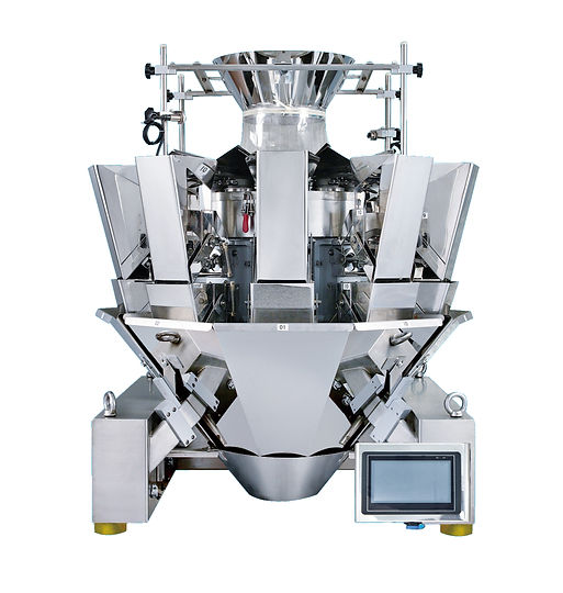 A multi-head weigher that packages fiber, tobacco, nuts and other dry goods.