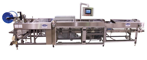 The bodolay c - 50 form fill and seal machine with the zipper roller and plastic reem on the back.