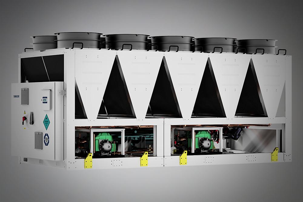 Luftgekühlte Kaltwassersätze mit Turbocor Verdichtern