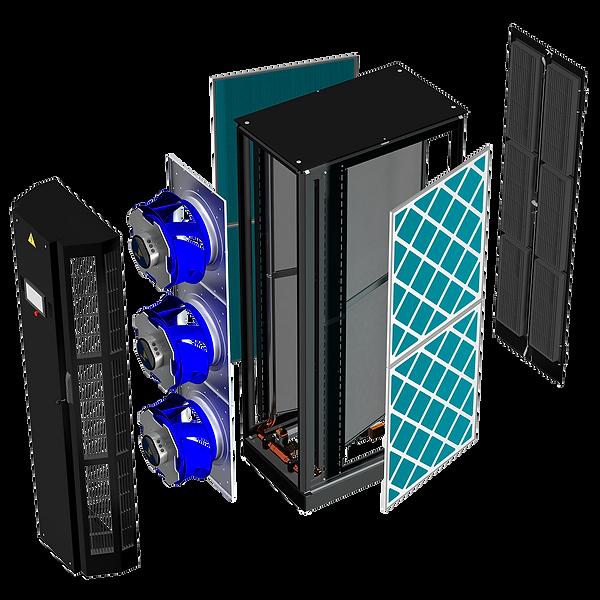 In-row-Kühlgerät – Einbauten