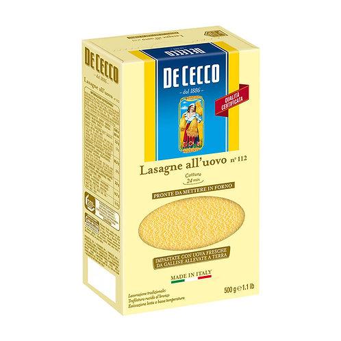 De Cecco Lasagne All'uovo Nº112 500g