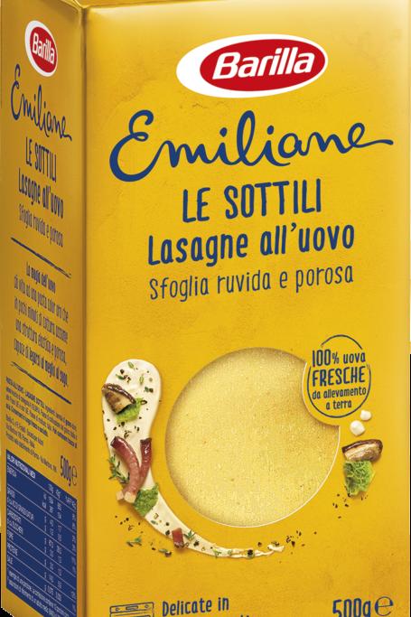 Barilla lasagne all'uovo 500 gr