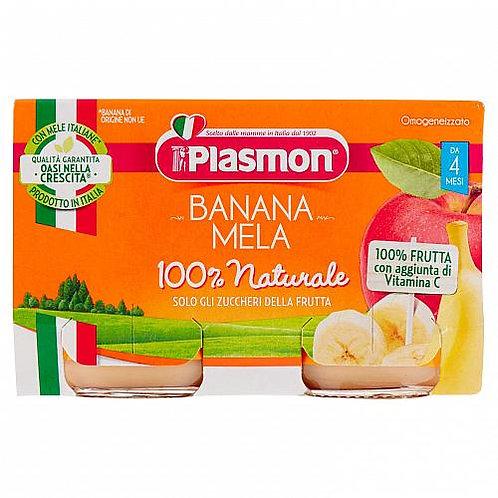 Plasmon omogeneizzato mela e banana 104 gr x2