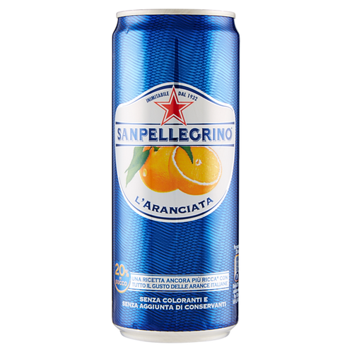 San pellegrino aranciata lattina 330 ml