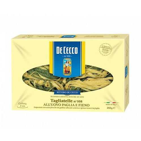 De Cecco Tagliatelle Nº108 All'uovo Paglia 250g