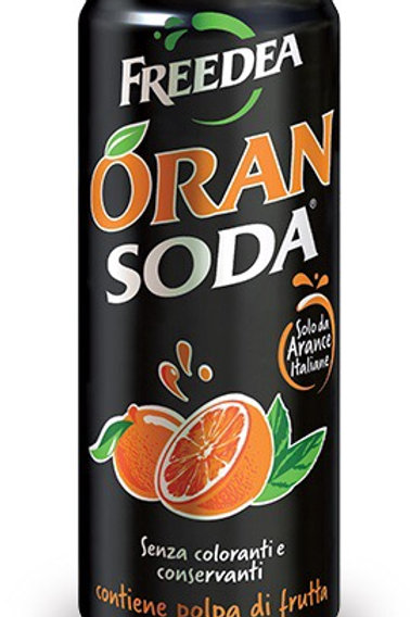Oransoda aranciata lattina 330 ml