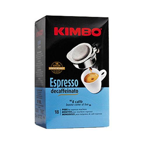Kimbo Cafe 18 Cialde Espresso Descaffeinato 125g