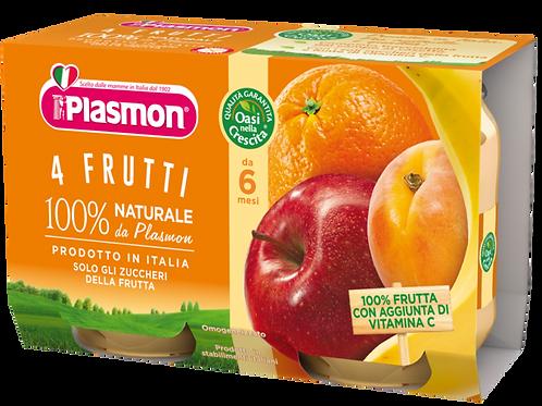 Plasmon omogeneizzato 4 frutti 104gr x22