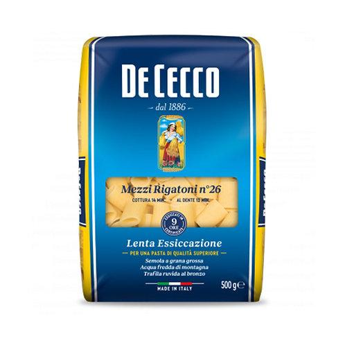 De Cecco Mezzi Rigatoni Nº26 500gr