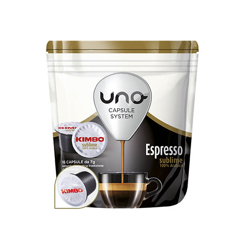 Kimbo 16 Capsule cafe Espresso Sublime cafe 112g