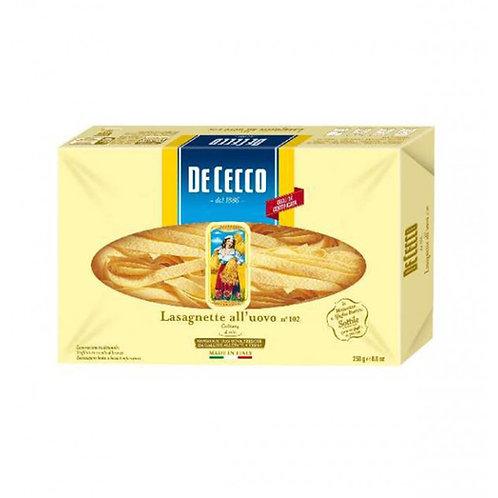 De Cecco Lasagnette All'uovo Nº102 250g