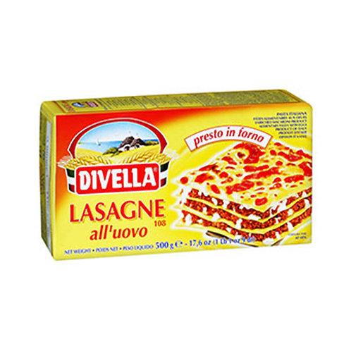 Divella Lasagne 108 All'Uovo 500gr
