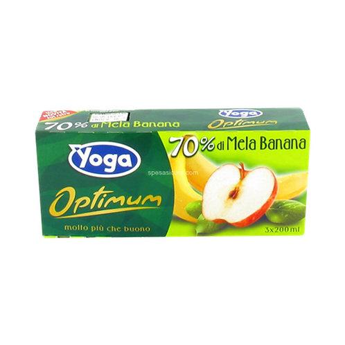 Yoga Optimum Succo Mela e Banana Confezione zumo 200ml x3