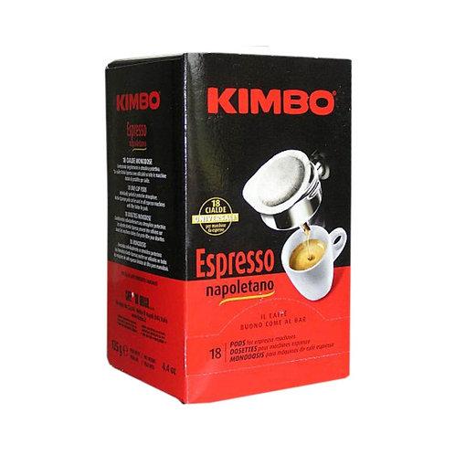 Kimbo Cafe 18 Cialde Espresso Napoletano 125g