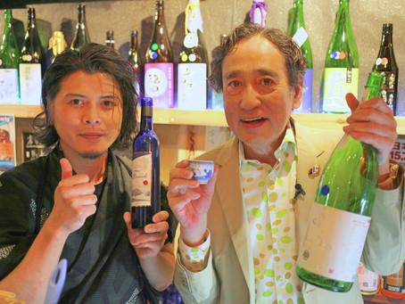 ルー大柴さんがNIBよル~じげの取材で日本酒専門バータイムご来店!!放映日の報告