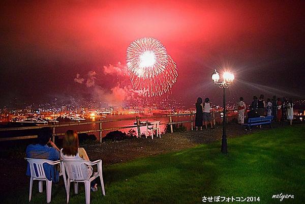 まちゃる佐世保唯一の日本酒専門バータイムシーフェス花火.jpg