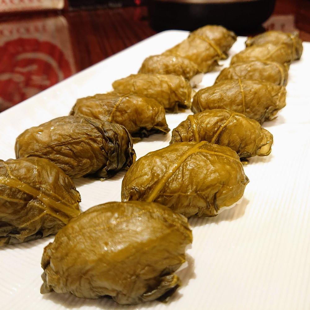 お凌ぎ『葉高菜の一口お寿司』