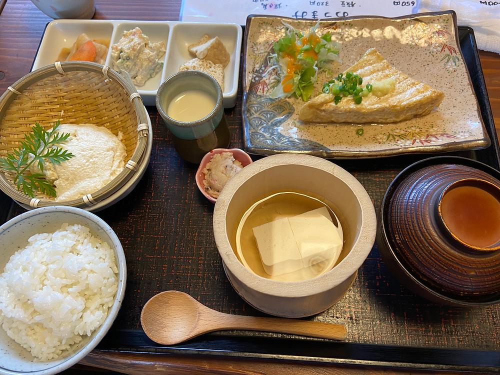 ・神田清隆社長おすすめ、肥後の茶屋さんでの豆腐づくし御膳を堪能🍚