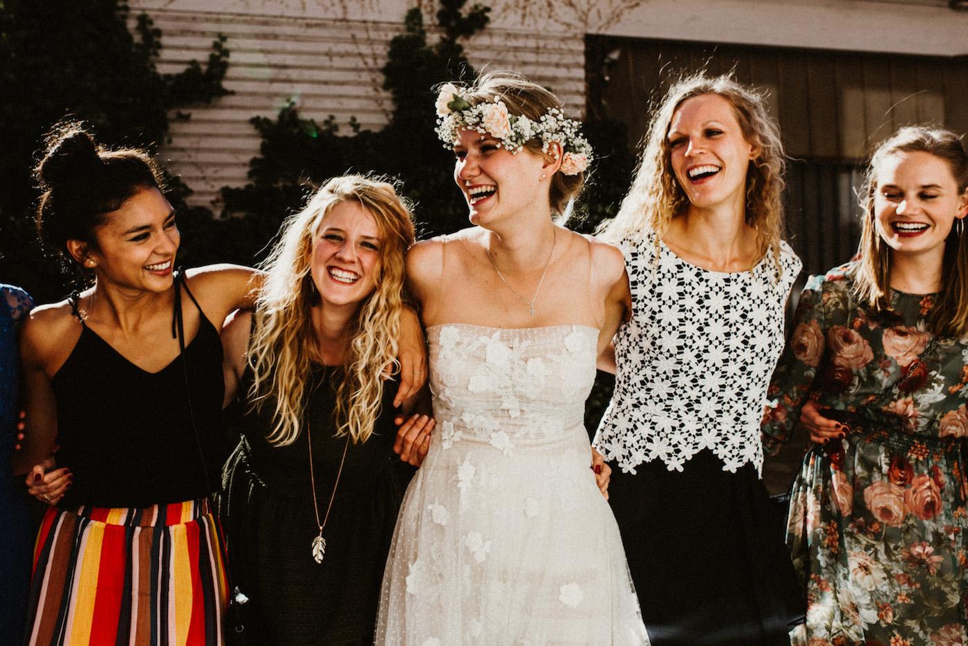 Hochzeitsfotografie-Brautjungfern