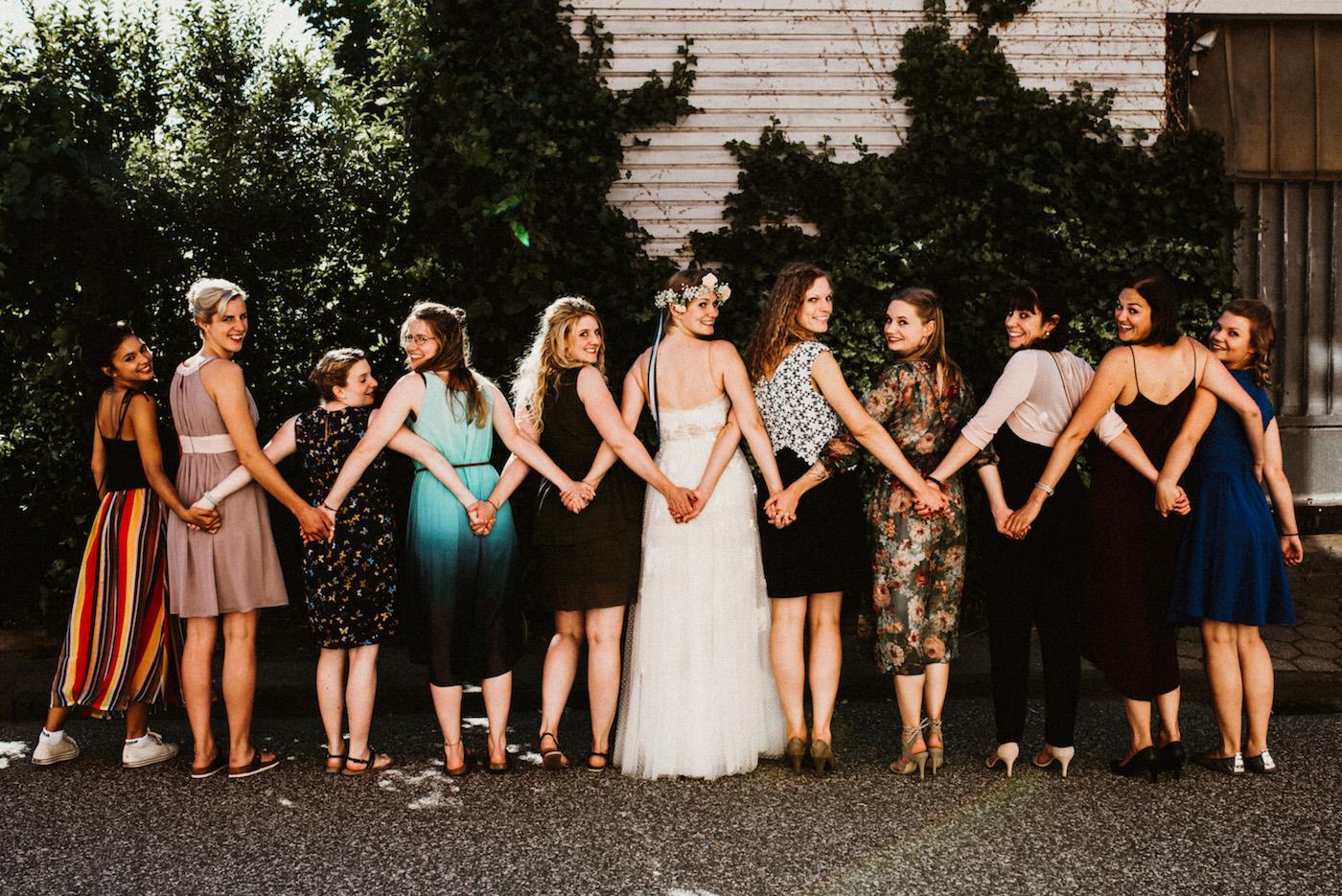 Hochzeitsfotograf-Brautjungfern