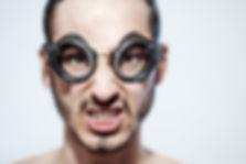 spontanes Fotoshooting mit Biker Brille