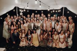 Gruppenbild, Hochzeit, Gut-Bliesdorf