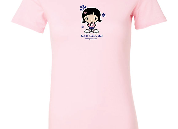 """Jesus Loves Me"" Ladies T-shirt"