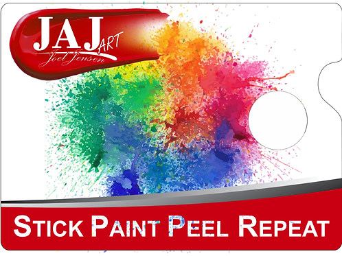 Wooden Paint Palette with Removable Vinyl Top