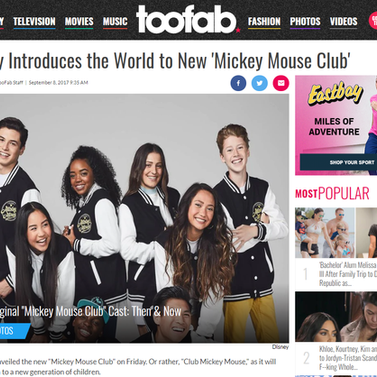 "Too Fab: Disney Introduces the new ""Mickey Mouse Club"""
