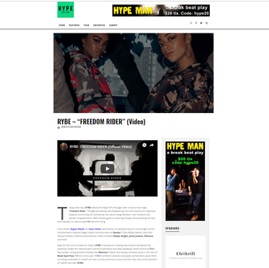 "Hype Off Life: RYBE ""Freedom Rider"""