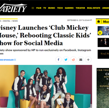 "Variety: Disney launches ""Club Mickey Mouse"""