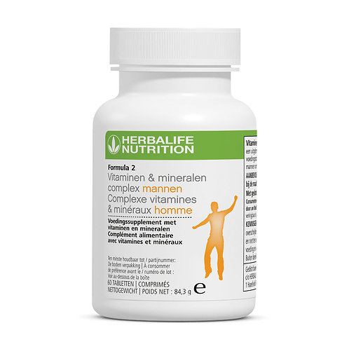 Formula 2 Vitaminen & mineralencomplex mannen multivitaminen supplement 60 tabl