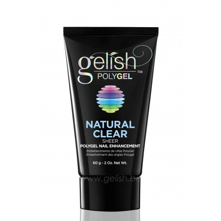 Gelish Polygel Natural Clear - 60gr = GRATIS bright white