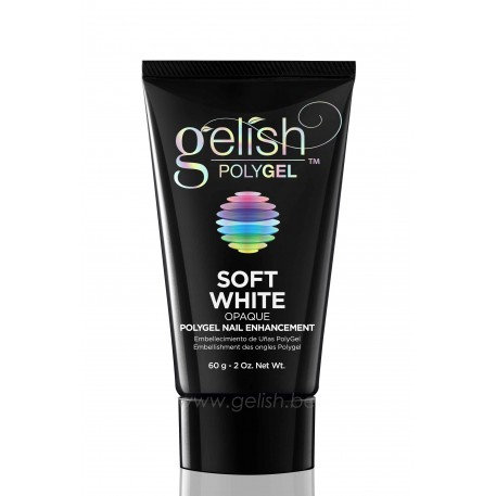 Gelish Polygel Soft White - 60gr = GRATIS dark pink