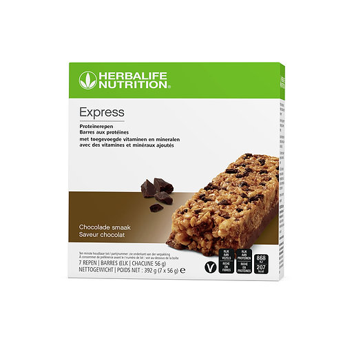 Express Proteïnerepen chocolade 7 repen van 56g