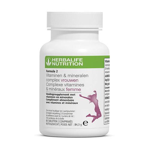 Formula 2 Vitaminen & mineralencomplex vrouwen multivitaminen supplement 60 tabl