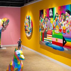 Okuda Solo Show at Moniker Art Fair 2019