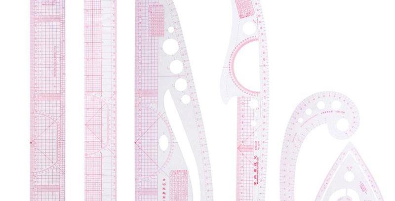 VODOOL DIY Multi-Ruler Seam Quilt Sewing Curve Rulers Drawing Cutting Ruler
