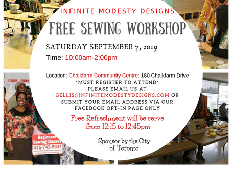 Free Sewing Project in 180 Chalkfarm Community center (September 7, 2019)
