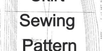 Sewing Pattern: Skirt Front & Back