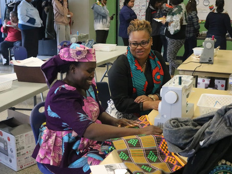 Our 2018 Community Sewing Event, Held at 180 Chalkfarm Community Center
