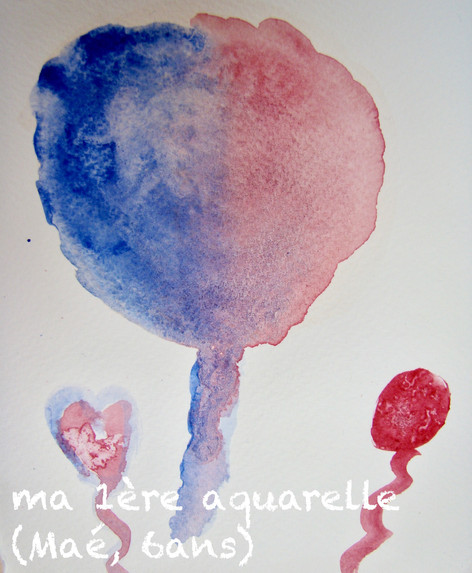 initiation aquarelle enfant